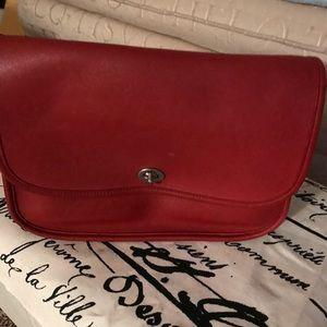 COACH Vintage shoulder bag RED